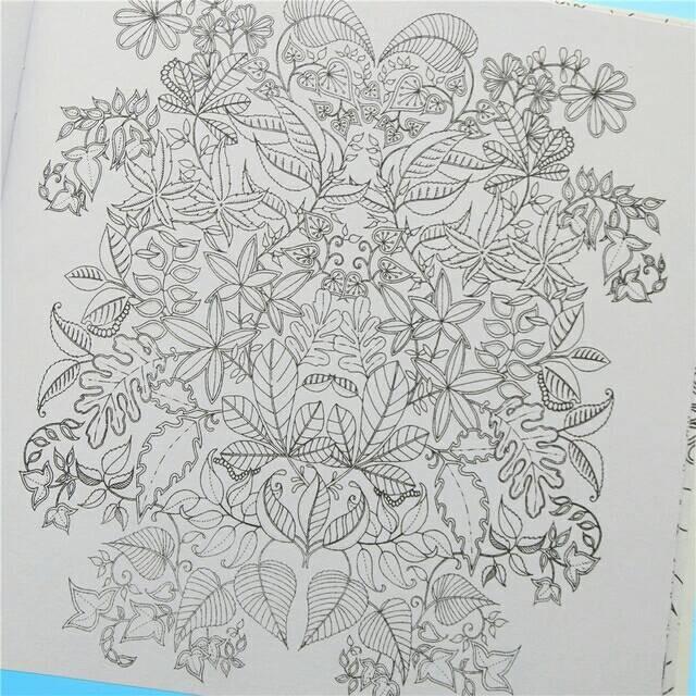 Secret Garden Coloring Book Anti Stress Buku Mewarnai Flora
