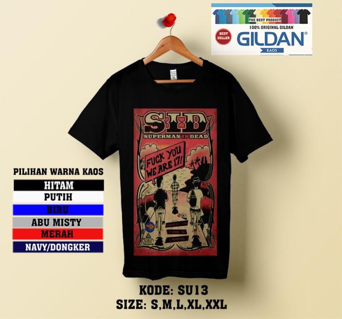 harga Kaos superman is dead band-kaos original gildan softstyle su13 Tokopedia.com
