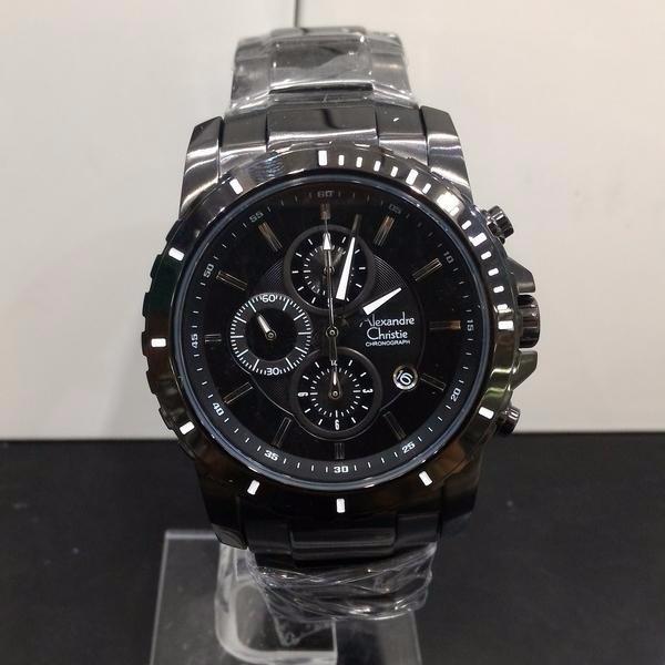 harga Jam tangan alexandre christie ac original pria 6141 hitam Tokopedia.com