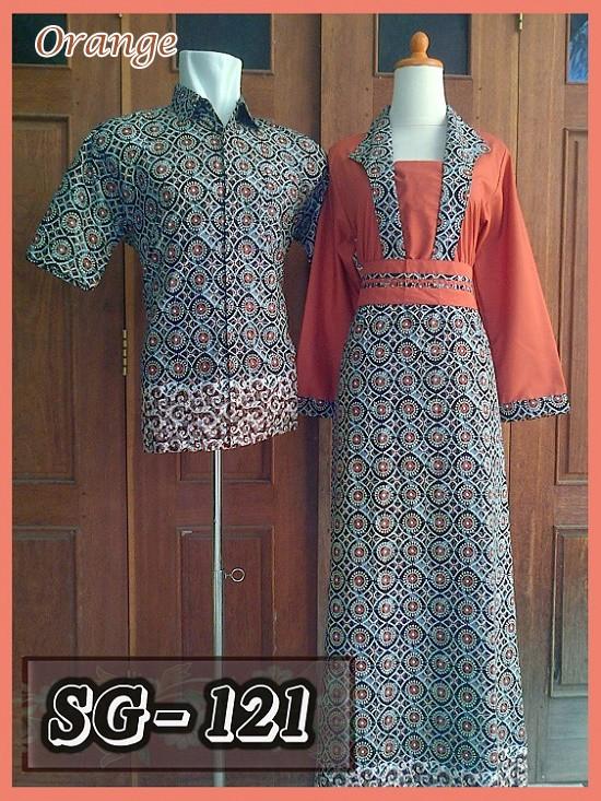 harga Sarimbit gamis batik couple baju pasangan batik pekalongan murah 14 Tokopedia.com
