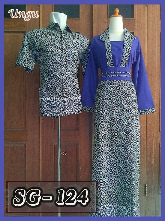 harga Sarimbit gamis batik couple baju pasangan batik pekalongan murah 17 Tokopedia.com