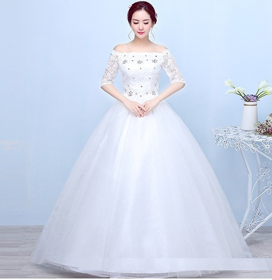 1703004 Putih Gaun Pengantin Wedding Gown Wedding Dress