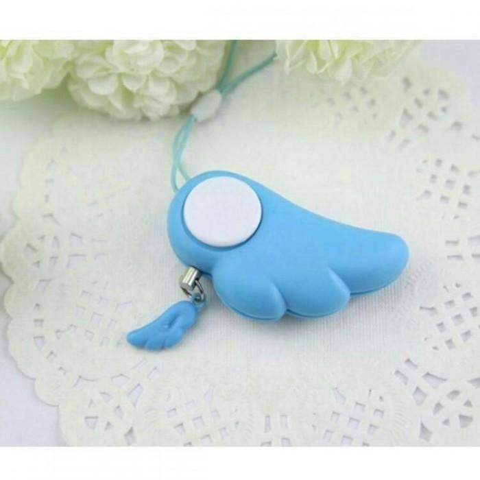 Gantungan Kunci Alarm Guardian Angel Wing - blue
