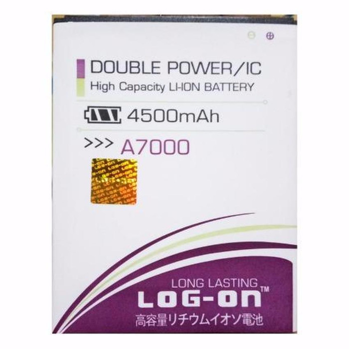 LOG ON Baterai Double Power Lenovo A7000 Battery Original