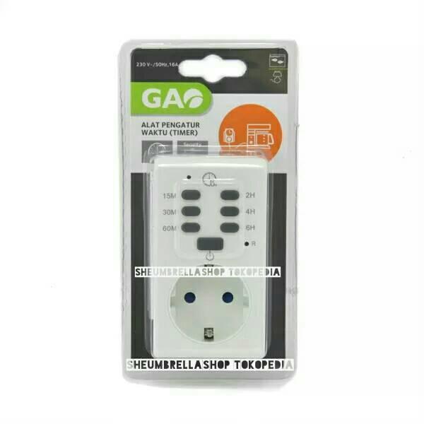 Foto Produk gao stop kontak timer pengatur waktu / colokan listrik / steker dari sheumbrellashop