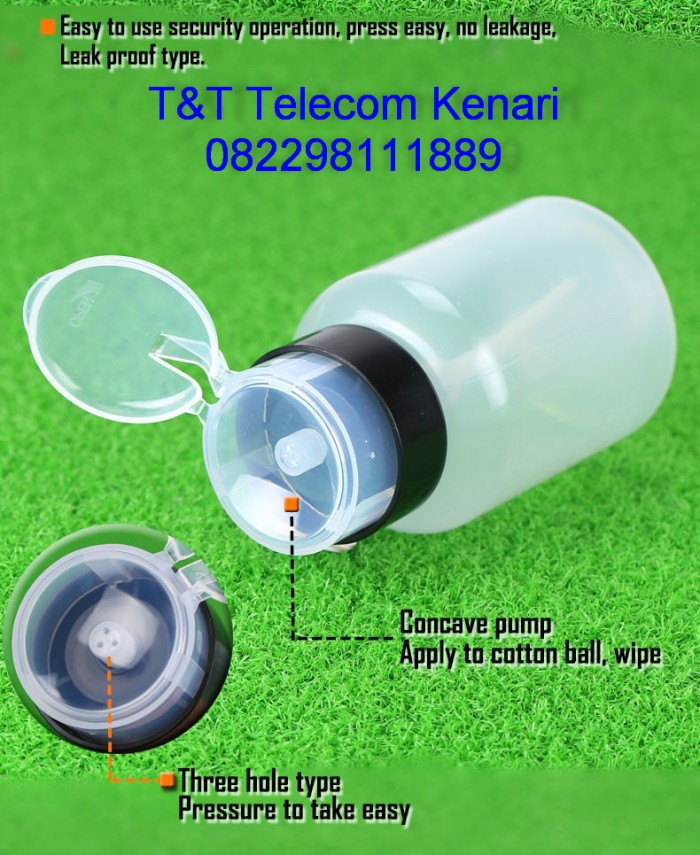 harga Botol alcohol 250ml press pumping dispenser untuk ftth fiber tool Tokopedia.com