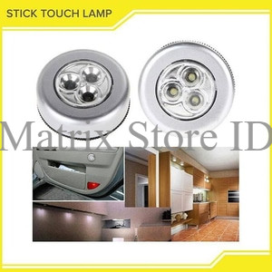 Lampu Emergency LED Tempel Darurat Stick And Click Touch LED Lamp AAA