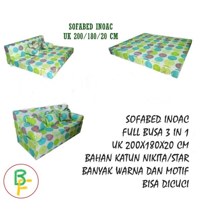 harga Sofa bed inoac no 1 ukuran 200 x 180 x 20 cm Tokopedia.com