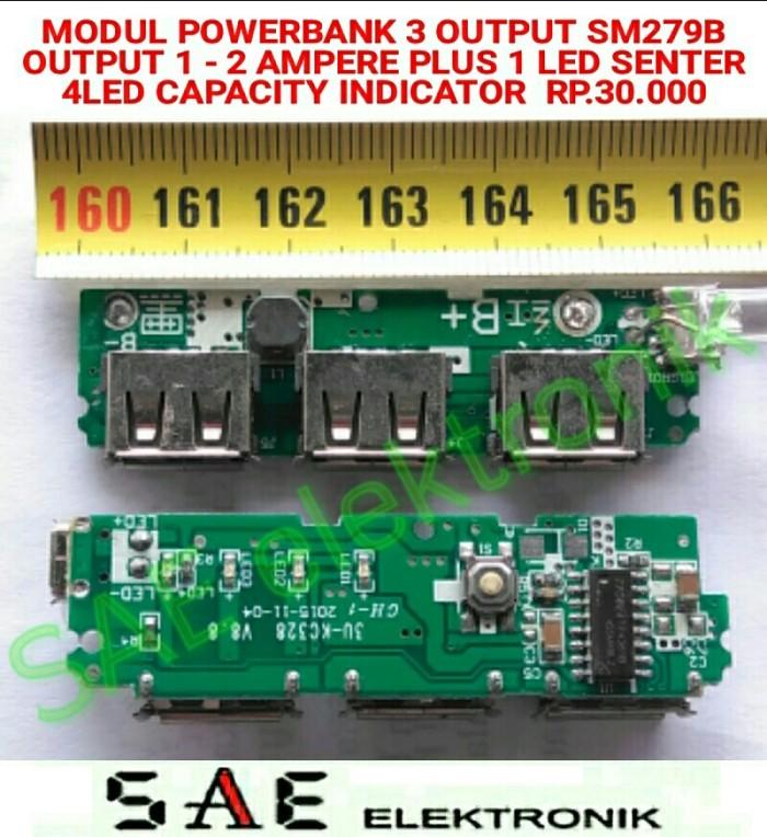 harga Sm279b Modul Powerbank Board 3 Output 4led Capacity Indicator Tokopedia.com