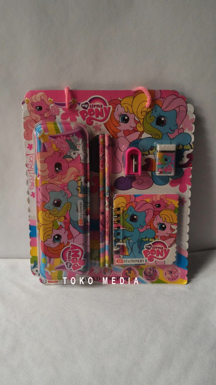Jual Paket Alat Tulis Anak Study Set Karakter My Little Pony Toko 1