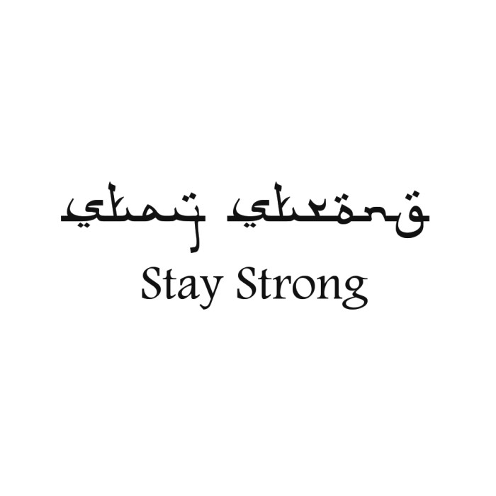 Foto Produk Lolitattoo Temporary Tattoo Stay Strong Arabic dari Lolitattoo Shop