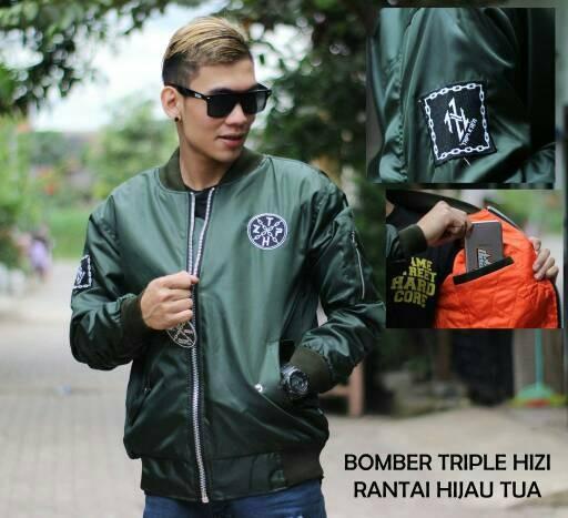 Jaket Bomber Bojiel Hijau Army  Jaket Cowok / Pria Murah   Jaket Motor