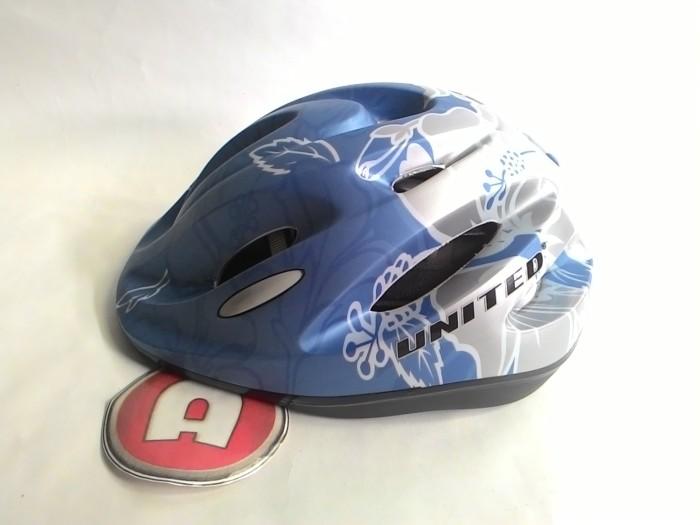 harga Helm anak united i helm sepeda bmx i helm sepatu roda - biru silver Tokopedia.com