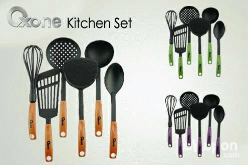 Ktchen tool oxone i set 6 pcs / peralatan masak / serok sepatula dll