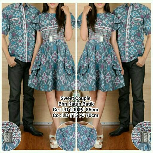 harga Couple dress atasan sweet batik ma Tokopedia.com