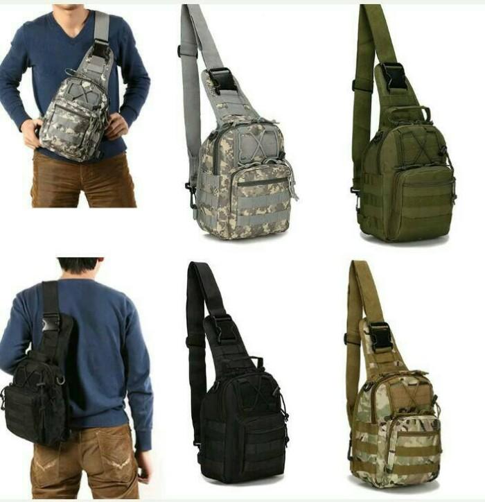 harga Tas Pria/tas Tactical Army/tas Selempang Army Import/tas Army Outdoor - Khaki Blanja.com