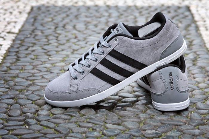 low priced 7d513 42c9c Terbatas Adidas Neo Caflaire Original Light Grey Suede Terbaik