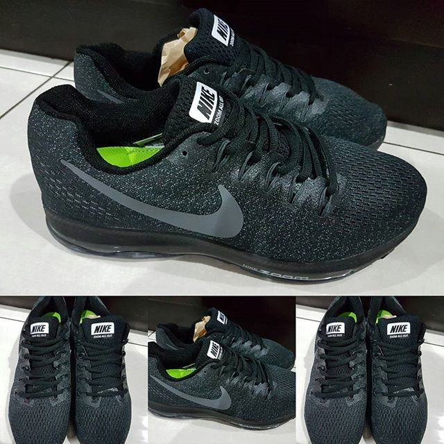... harga Sepatu lari running jogging gym nike zoom all out full black  hitam Tokopedia.com 870c1eee9f