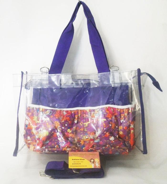 harga Paket sling transparant dan diaper bag motif (tas bayi tas botol susu) Tokopedia.com