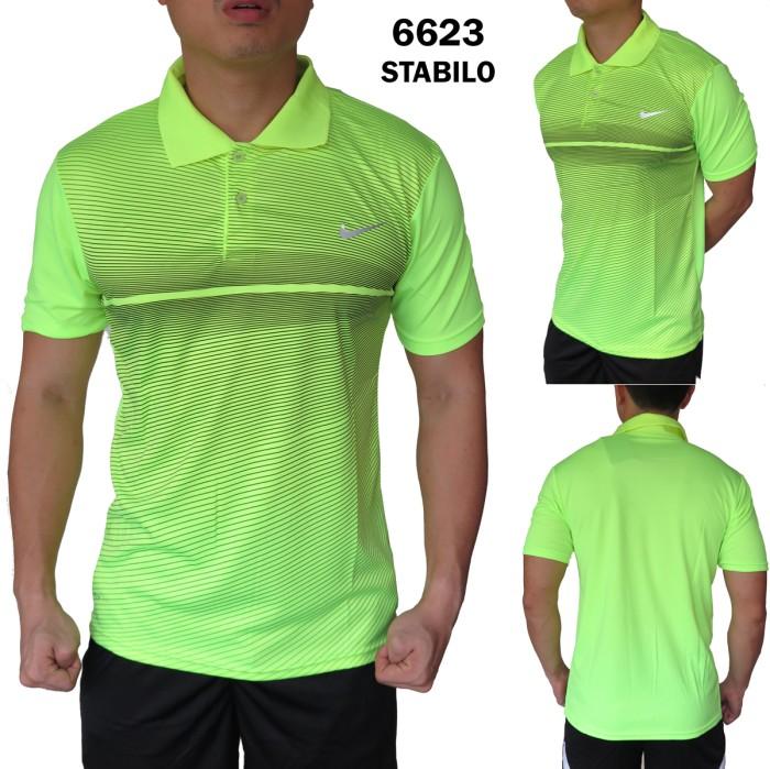 67ffa6d832 Jual Polo Cowok Gym Nike 6623 Hijau Kaos Olahraga Badminton Futsal