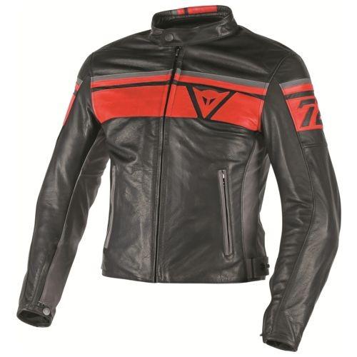 Dainese jacket black jack warna black red