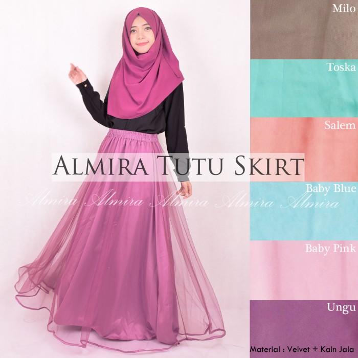 harga Rok panjang muslimah almira tutu skirt / bawahan / rok panjang muslim Tokopedia.com