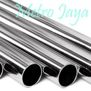 harga Pipa bulat stainless steel 1  x 100 cm   gantungan baju display Tokopedia.com