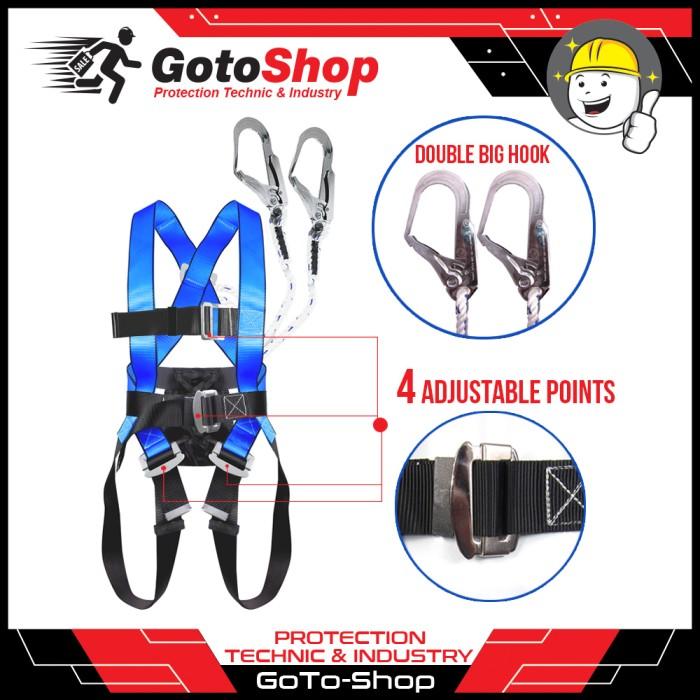 harga Full body harness double 2 big hook besar ecofit gosave safety belt Tokopedia.com