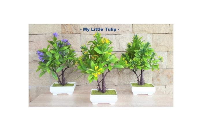 Pohon Palsu Pot Shabby Chic Dekorasi Rumah Meja Ruang Tamu Bagus Murah 5c9915745b