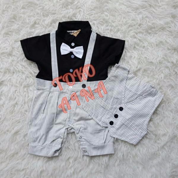 Tuxedo Baby Romper MENEZ Jumper Pesta Bayi Baju Formal Anak Laki-laki