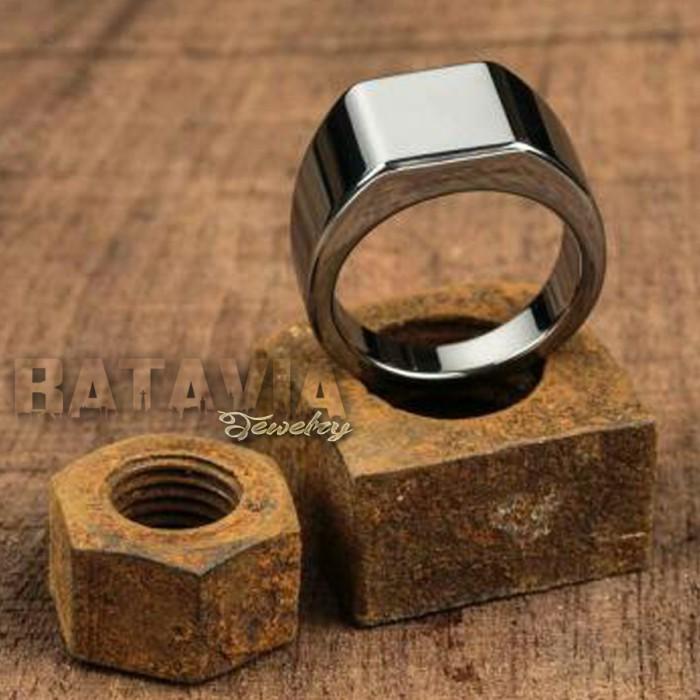 harga Cincin pria titanium ring silver vitaly man fashion stainless steal Tokopedia.com
