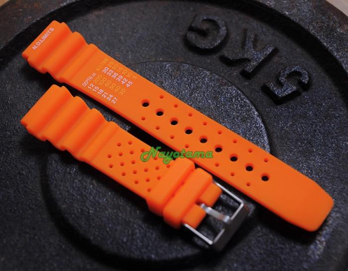 Jual 22mm ND Limits Orange - Tali Jam Tangan Karet Rubber Strap ...