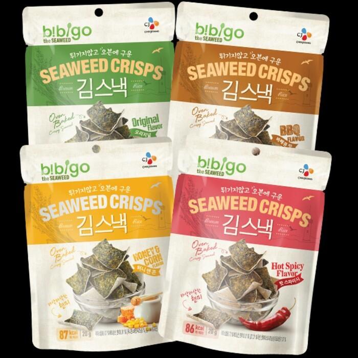 Korean Cj Bibigo Seaweed Crisps Snack Snek Rumput Laut Korea