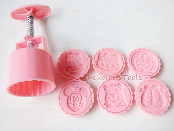 harga Mc003 round disney pink moon cake cetakan kue bulan karakter baru lotu Tokopedia.com
