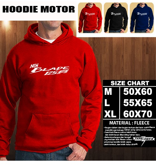 harga Jaket hoodie otomotif motor honda new blade 125 fi font hoodie/sweater Tokopedia.com