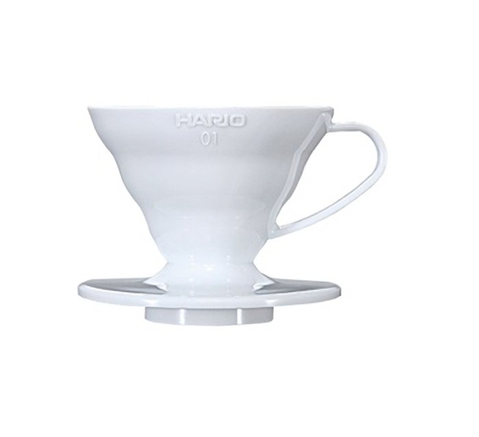 VD-01W | Hario V60 01 WHITE + Sendok Takar Dripper Pour Over 1-2 Cups