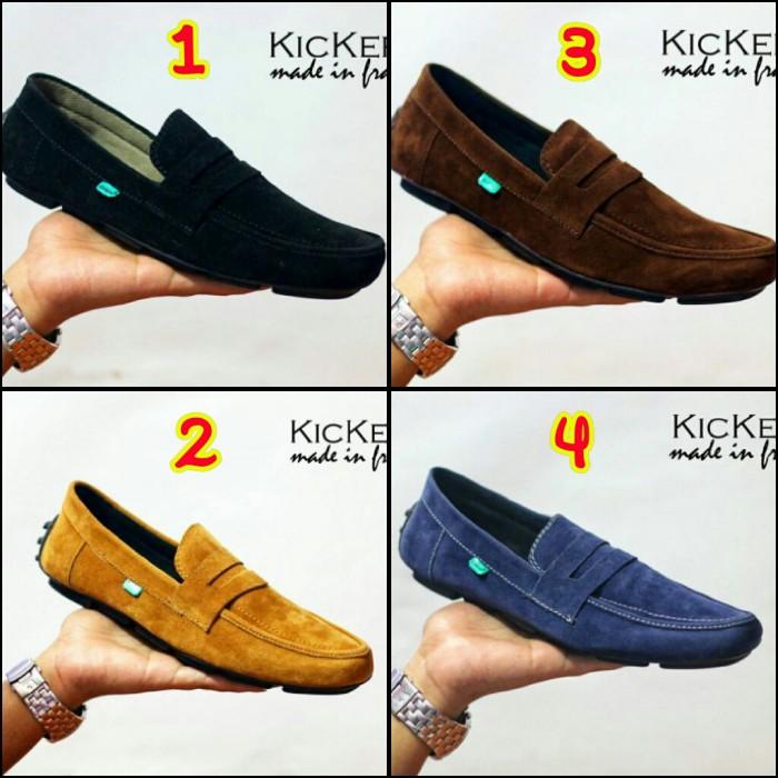 harga Sepatu pria kickers jevin casual slip on made in france asli import Tokopedia.com