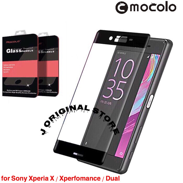 Jual MOCOLO Tempered Glass 3D Edge Sony Xperia X/XP Full Curved Premium -  Jakarta Selatan - J Original | Tokopedia