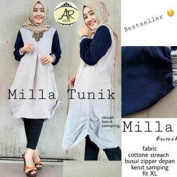 Jual Atasan Blouse Wanita Baju Muslim Blus Muslim Milla Tunik ... eb78f4bb05