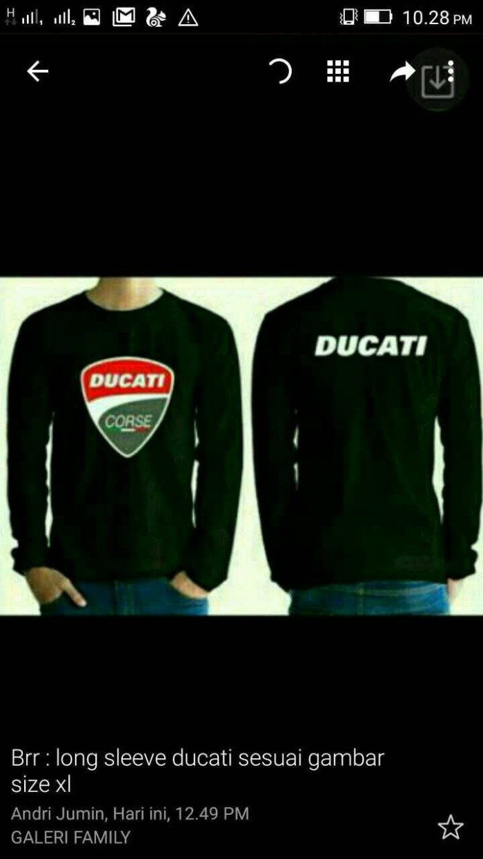 harga Sweater hoodie/switshirt ducati Tokopedia.com