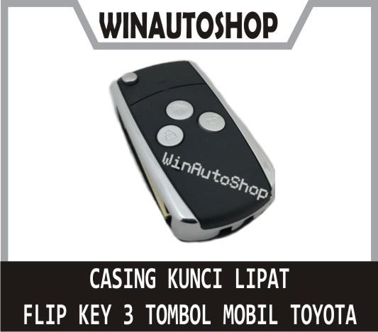 harga Casing Cover Kunci Lipat Flip Key 3 Tombol Untuk Innova, Yaris, Dll Tokopedia.com