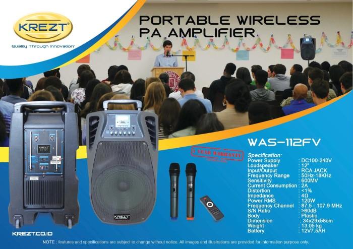 harga Krezt was-112fv - portable sound system Tokopedia.com