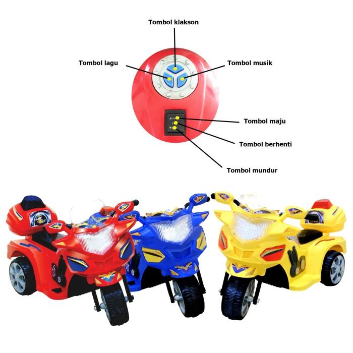 harga Promo yotta ride on motor aki halilintar mainan anak Tokopedia.com