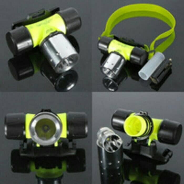 harga Diving headlamp led senter kepala selam dan darat Tokopedia.com