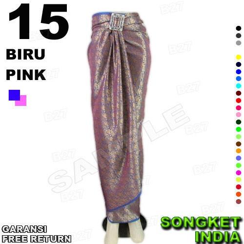 harga Rok lilit batik b115-15 bahan songket india Tokopedia.com