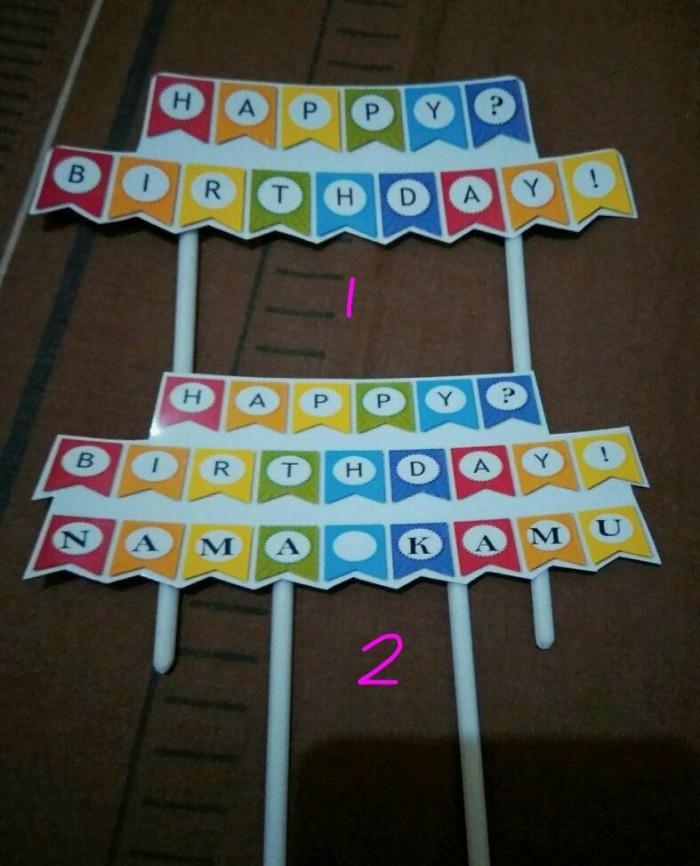 Jual Banner Topper Kertas Hiasan Ucapan Kue Tart Cake Ultah Kota Batam Suka Sari Store Tokopedia