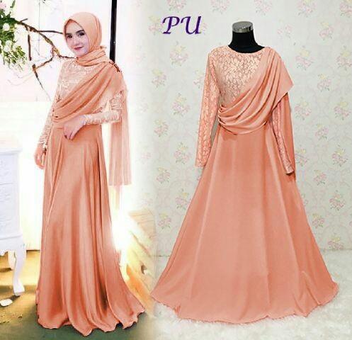 Jual Gamis Busana Muslim Gaun Pesta Pakaian Wanita Baju Syar I