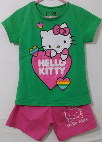 Foto Produk Kaos Setelan Karakter Anak Hello kitty hijau size 1 - 6 dari Carol R. Duncan Store