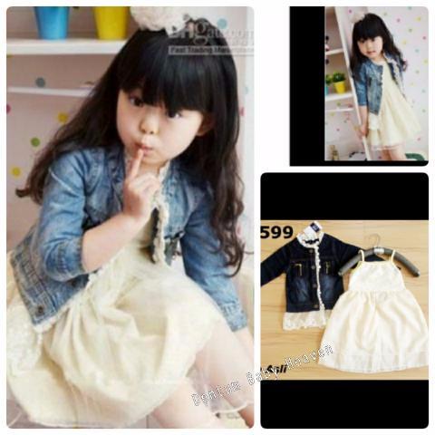 Foto Produk Baju Anak Branded Import Fashion Kids Girls Set Dress Jacket Jeans dari Carol R. Duncan Store