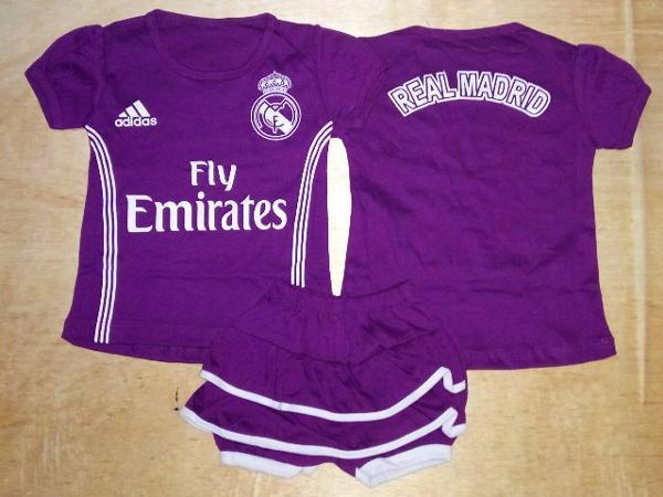 Foto Produk Setelan Bayi cewek /Baju Bola Anak Real Madrid Away 16/17 dari Carol R. Duncan Store
